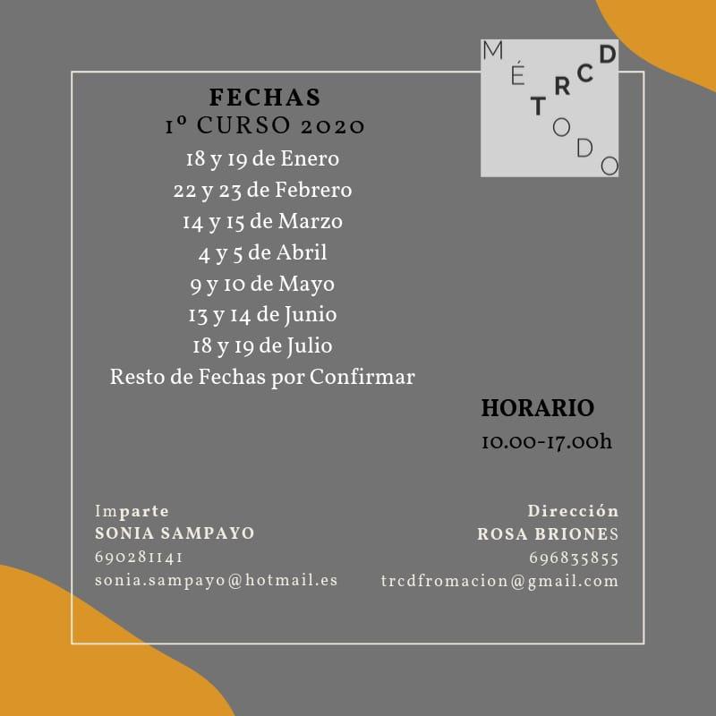 calendario formación TRCD 2020